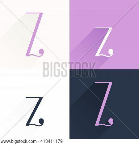 Z Letter Condensed Serif Font Set. Perfect To Use In Elegant Branding, Luxury Logo, Wedding Invitati