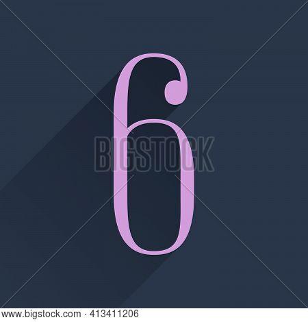 Number Six Condensed Serif Logo. Perfect To Use In Elegant Branding, Luxury Label, Wedding Invitatio