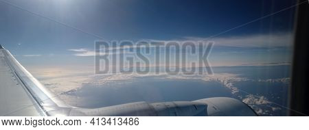 Air Travel View Of The French Alps