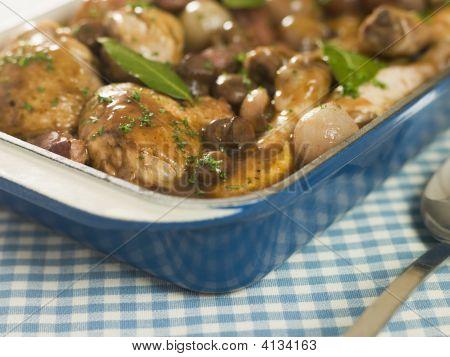 Dish Of 'Coq Au Vin'