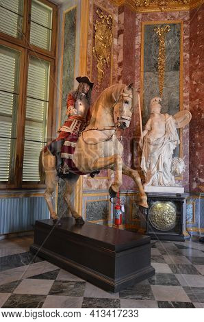 Turin, Italy - 04.28.2017: Armeria Reale (royal Armoury) Collections Of Arms And Armour By The Savoy