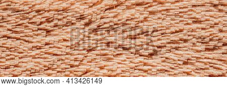 Faux Fur, A Textile Material That Imitates Natural Animal Fur. It Is Used In The Manufacture Of Clot