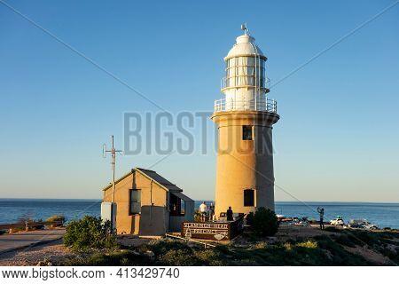 Exmouth, Western Australia - July 7, 2018: Vlamingh Head Precinct Lighthouse In Western Australia Ne