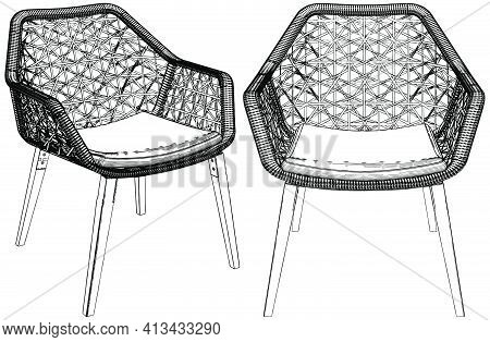 Armchair Elbow Chair Vector 7...