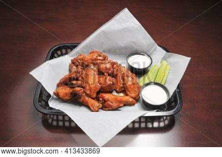 Authentic American Cuisine Food Best Known As Buffalo Hot Wings