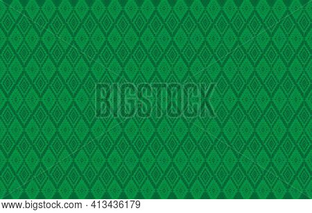 Fabric Pattern Design Concept.thai Silk Fabric Pattern Background Use For Wallpaper,tablecloths, Shi