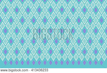 Fabric Pattern Design.thai Silk Fabric Pattern Background Use For Wallpaper,tablecloths, Shirts, Bla