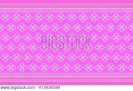 Thai Fabric Pattern Design.thai Silk Fabric Pattern Background Use For Wallpaper,tablecloths, Shirts