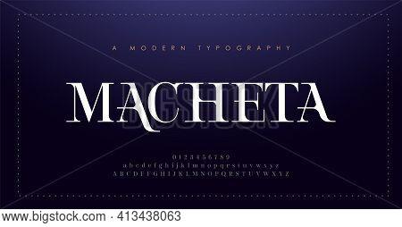 Elegant Alphabet Letters Font And Number. Classic Lettering Minimal Fashion Design. Typography Moder