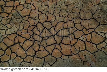 Climate Change And Drought Land. Water Crisis. Arid Climate. Crack Soil. Nature Disaster. Dry Soil T