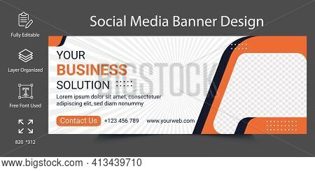Digital Marketing Agency Business Solution Social Media Banner Template Design. Social Media Backgro