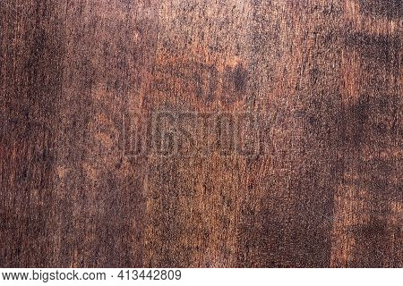 Closeup Photograph Of Lacquered Wood Texture