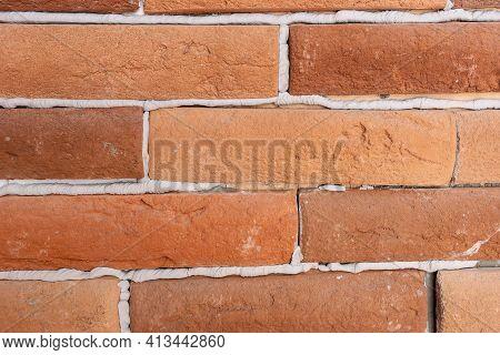 Background Of Bricks Closeup Texture