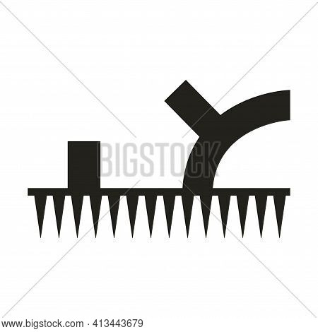 A Shoe Sign For Loosening The Soil And Aerating The Lawn. A Sandal Icon With A Studded, Spiky Sole.