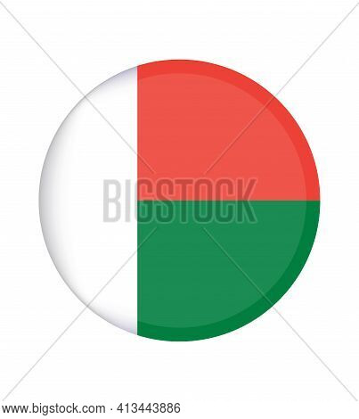 National Madagascar Flag, Official Colors And Proportion Correctly. National Madagascar Flag. Vector