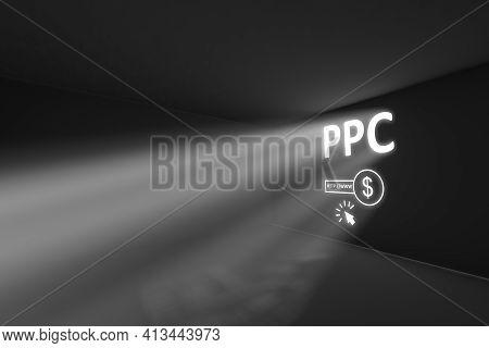 Ppc Rays Volume Light Concept 3d Illustration