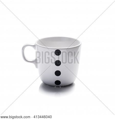 White Ceramic Coffee Cup Isolated On White Background