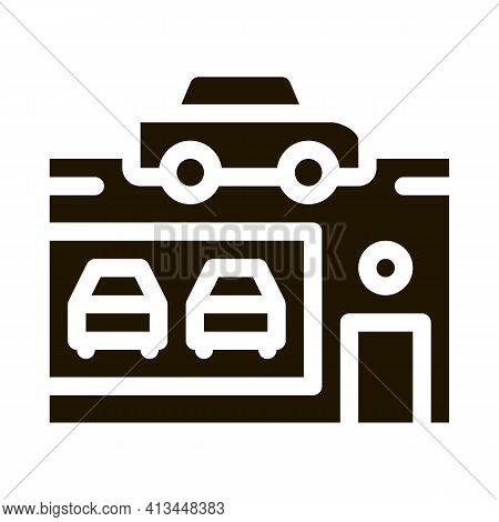 Car Dealer Shop Icon Vector Glyph Illustration
