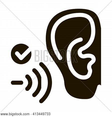 Good Hearing Perception Icon Vector Glyph Illustration