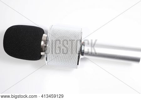 A Close Up Of A Microphone That Can Be Used For Karaoke Aswell