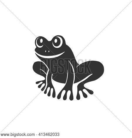 Frog Graphic Icon. Frog Sign Isolated On White Background. Tree Frog Symbol. Vector Illustration