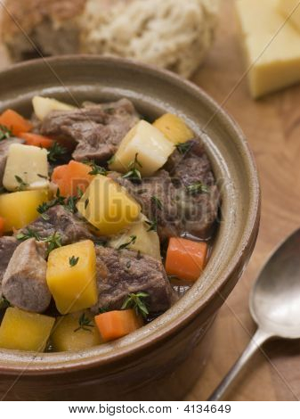 Welsh Cawl In A Casserole Pot