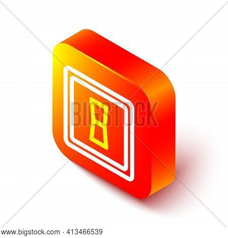Isometric Line Electric Light Switch Icon Isolated On White Background. On And Off Icon. Dimmer Ligh