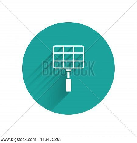 Paper Cut Barbecue Steel Grid Icon Isolated On Blue Background. Top View Of Bbq Grill. Wire Rack For