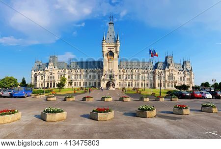 Romania, Iasi City On 15.07.2019. The Palace Of Culture In Iasi Romania. In The Past The Building Se