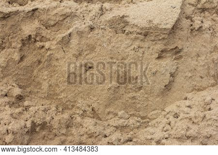 Sand Background, Wet Sand Texture With Lumps, Sand Background, Sand Texture With Lumps