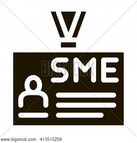 Sme Worker Badge With Photo Icon Vector