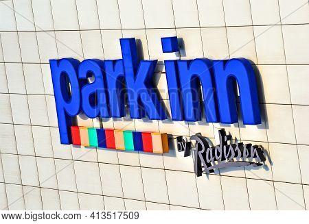 Kiev, Ukraine - Mar 16: Park Inn By Radisson Kyiv Troyitska (formerly Park Inn And Park Inn Internat