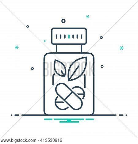 Mix Icon For Herbal-medicine Bottle Ayurvedic-pills Herbal Medicine