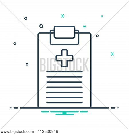 Mix Icon For Medical-report Report Notepad Clipboard Medical