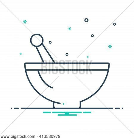 Mix Icon For Mortar  Pestle Ayurveda Homemade Traditional-therapy