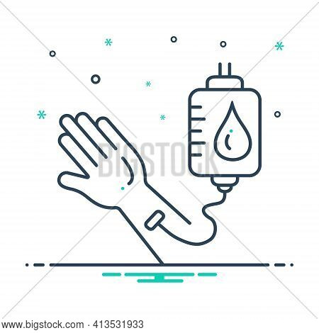 Mix Icon For Blood-transfusion Blood Transfusion Donate Hand Blood-bag