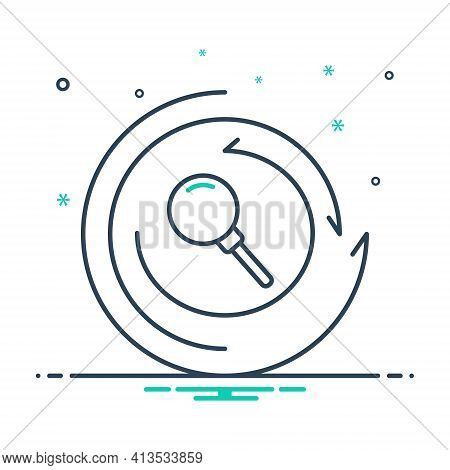 Mix Icon For Research Investigation Inquiry Finding