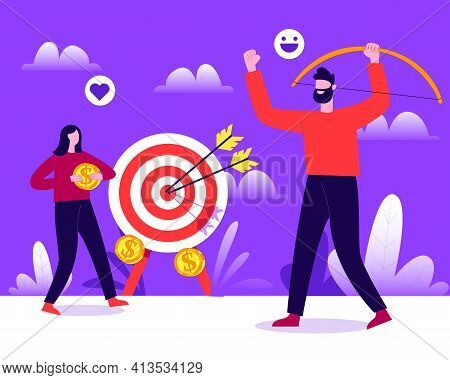 Getting Paid On Per Click Illustration Concept Vector