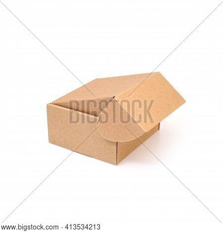 One Craft Box Isolated On White Background