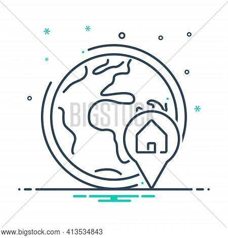 Mix Icon For Global-real-estate-location Global Real Estate Location Navigation