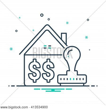 Mix Icon For Home-loan-approved Home Loan Approved Stamp Property Real-estate Approval