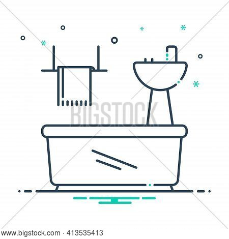 Mix Icon For Bathroom-appliances Bathroom Appliances Plumbing Towel