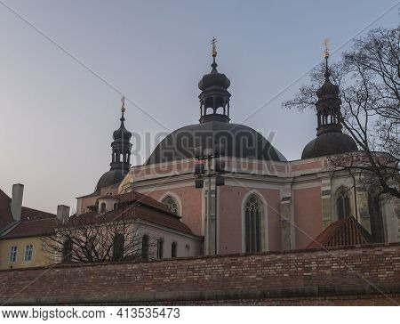 Evening View Of Church Of The Assumption Of The Virgin Mary And St. Charles The Great At Karlov In O