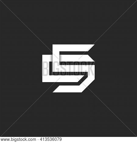 Initials Letters Sc Or Cs Logo Monogram, Overlapping Two Letter S And C Mark Design, Creative C5 Sym