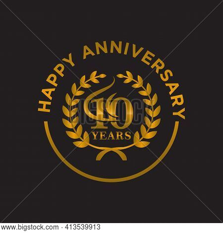 10 Year Anniversary Vector Template Design Illustration.eps 10