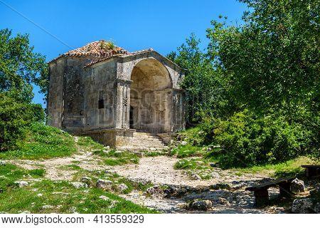 Mausoleum Of Dzhanike-khanym, Daughter Of Khan Tokhtamysh, In Ancient City-fortress Chufut Kale, Bak