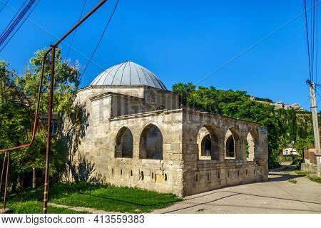 Building Of Eski Durbe, Most Ancient Mausoleum In Bakhchisaray, Crimea. Built Around Xiv Century In