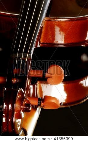 Violin Resting On A Mirror
