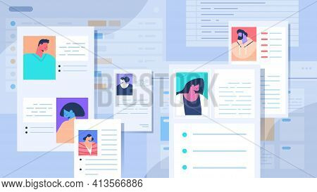 Curriculum Vitae Papers With Photo And Personal Info Of New Employees Job Candidates Recruitment Hir