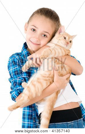 The Girl With A Red Kitten